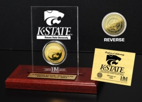 Kansas State Wildcats 24KT Gold Coin Etched Acrylic