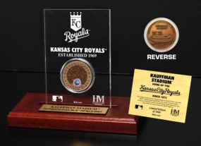 Kauffman Stadium Infield Dirt Coin Etched Acrylic