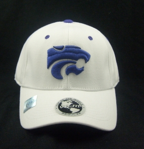 Kansas State Wildcats White One Fit Hat