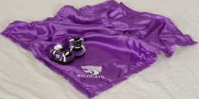 Kansas State Wildcats Baby Blanket and Slippers