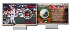 Kevin Youkilis Silver Plate Coin Card