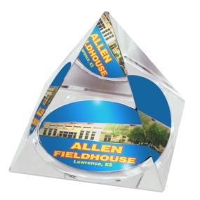 Kansas Jayhawks Crystal Pyramid
