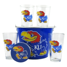 Kansas Jayhawks Gift Bucket Set