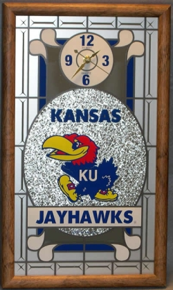 Kansas Jayhawks Wall Clock