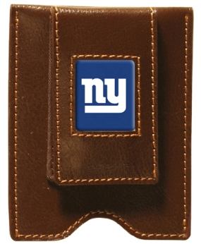 New York Giants Brown Leather Money Clip