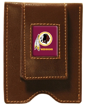 Washington Redskins Brown Leather Money Clip