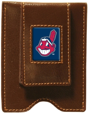 Cleveland Indians Brown Leather Money Clip