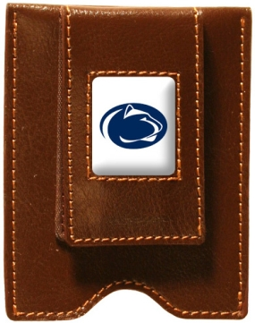 Penn State Nittany Lions Brown Leather Money Clip