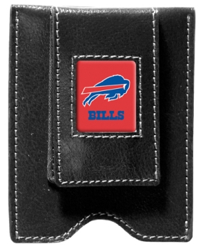 Buffalo Bills Black Leather Money Clip