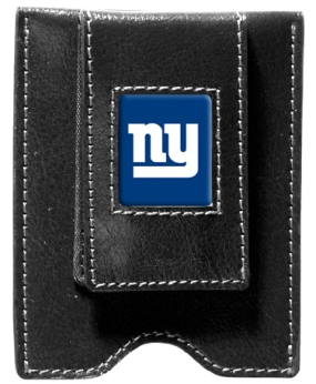 New York Giants Black Leather Money Clip