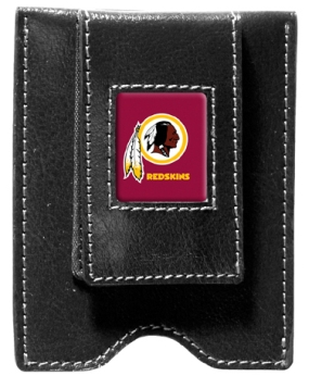 Washington Redskins Black Leather Money Clip