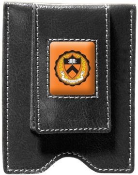 Princeton Tigers Black Leather Money Clip