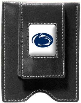 Penn State Nittany Lions Black Leather Money Clip