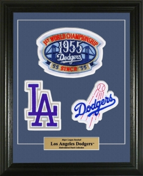 Los Angeles Dodgers Embroidered Patch mat & Framed