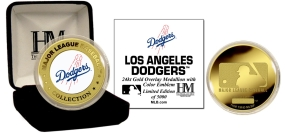 LOS ANGELES DODGERS 24KT GOLD AND COLOR TEAM COMMEMORATIVE COIN