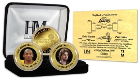 Los Angeles Lakers 2009 NBA Champions 24KT Gold 3 Coin Set