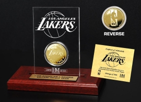 Los Angeles Lakers 24KT Gold Coin Etched Acrylic