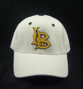 Long Beach State White One Fit Hat