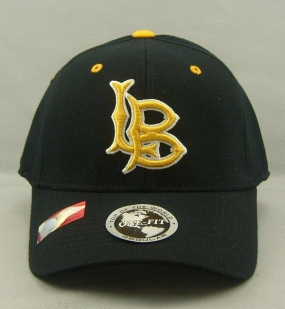 Long Beach State Black One Fit Hat