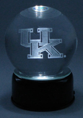 KENTUCKY U LOGO ETCHED IN CRYSTAL