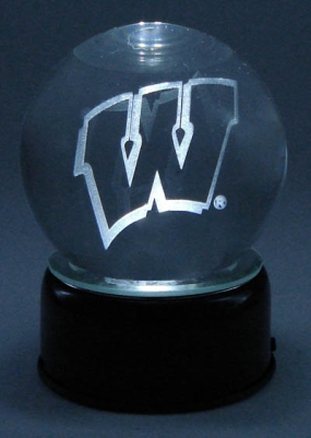 WISCONSIN U LOGO ETCHED IN CRYSTAL