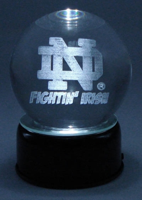 NOTRE DAME LOGO ETCHED IN CRYSTAL