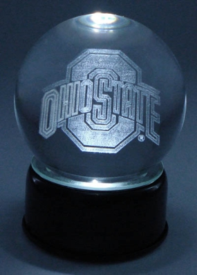 OHIO STATE U LOGO ETCHED IN CRYSTAL