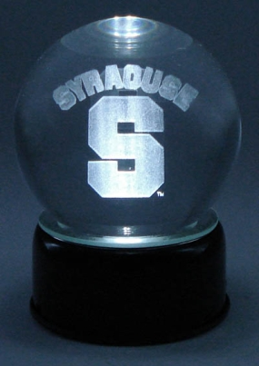 SYRACUSE U LOGO ETCHED IN CRYSTAL