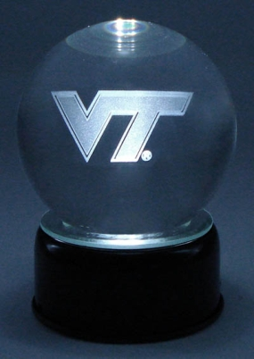 VIRGINIA TECH LOGO ETCHED IN CRYSTAL