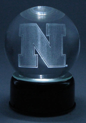 NEBRASKA U LOGO ETCHED IN CRYSTAL