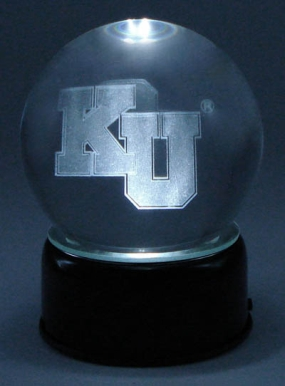KANSAS U LOGO ETCHED IN CRYSTAL