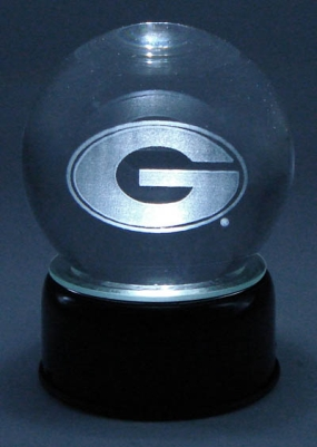 GEORGIA U LOGO ETCHED IN CRYSTAL