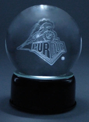 PURDUE UNIVERSITY LOGO ETCHED IN CRYSTAL