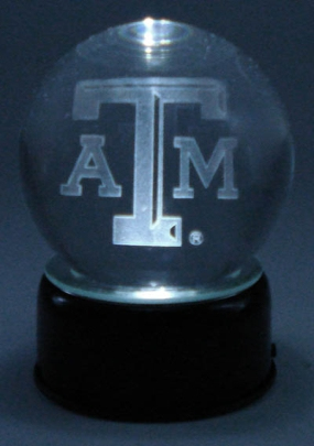 TEXAS A&M LOGO ETCHED IN CRYSTAL