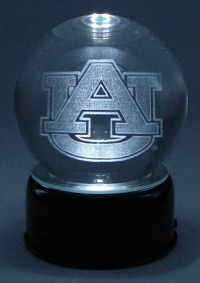 AUBURN U LOGO ETCHED IN CRYSTAL