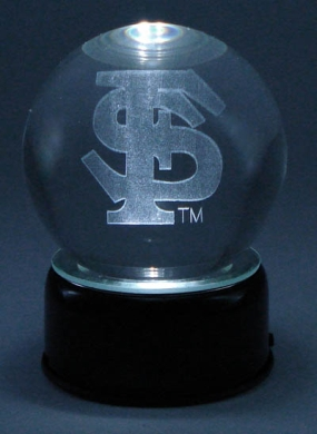 FLORIDA STATE U LOGO ETCHED IN CRYSTAL