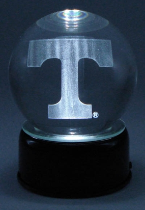 TENNESSEE U LOGO ETCHED IN CRYSTAL