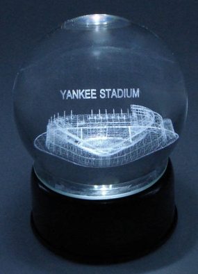 YANKEE STADIUM ETCHED IN CRYSTAL