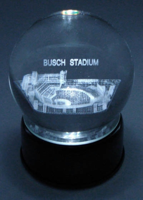 NEW BUSCH STADIUM ETCHED IN CRYSTAL