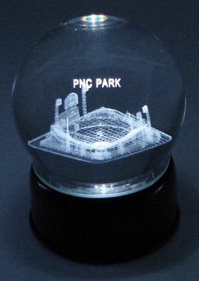 PNC PARK ETCHED IN CRYSTAL