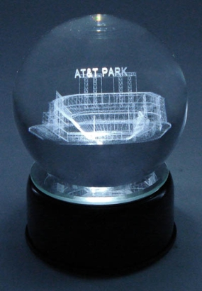 AT&T PARK ETCHED IN CRYSTAL