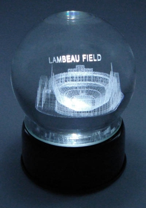LAMBEAU FIELD ETCHED IN CRYSTAL