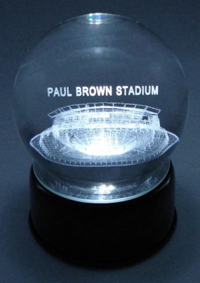 PAUL BROWN STADIUM ETCHED IN CRYSTAL