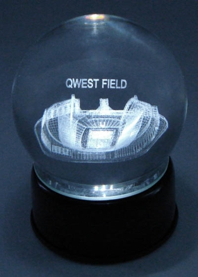 SEAHAWKS STADIUM ETCHED IN CRYSTAL