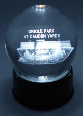 CAMDEN YARDS ETCHED IN CRYSTAL