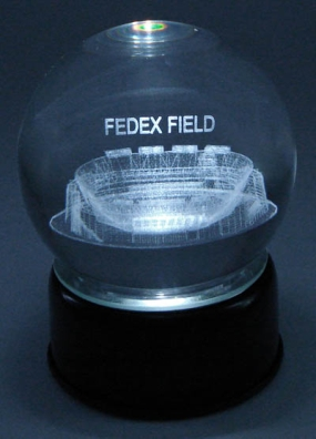 FEDEX FIELD ETCHED IN CRYSTAL