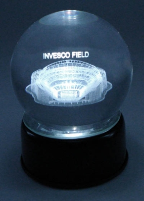 INVESCO FIELD ETCHED IN CRYSTAL