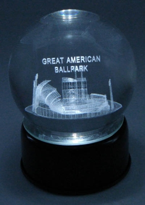 GREAT AMERICAN BALLPARK ETCHED IN CRYSTAL