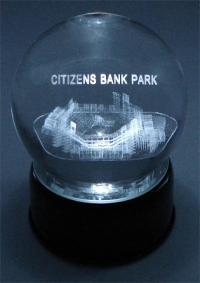 CITIZENS BANK FIELD ETCHED IN CRYSTAL