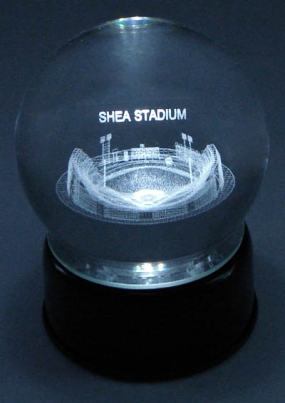 SHEA STADIUM ETCHED IN CRYSTAL